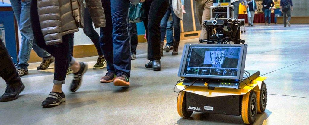 Роботы-пешеходы в толпе будет двигаться, не нарушая «человеческую этику толпы»